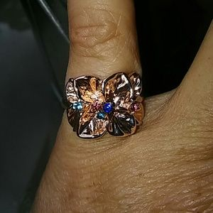 Jewelry - 2 for $20. Petal and crystal ring
